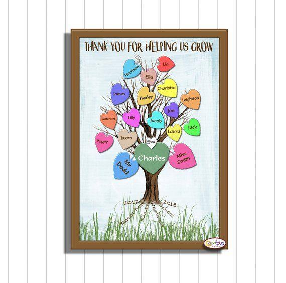 Class Keepsake Printable Teacher Gift Teaching Assistant Gift Children S Class List Thank You For Helping U Assistant Gifts Teacher Gifts Teacher Printable