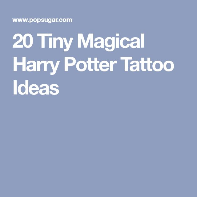 20 Tiny Magical Harry Potter Tattoo Ideas
