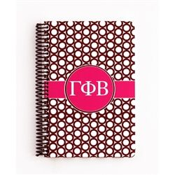 Gamma Phi Beta Spiral Notebook www.sassysorority.com