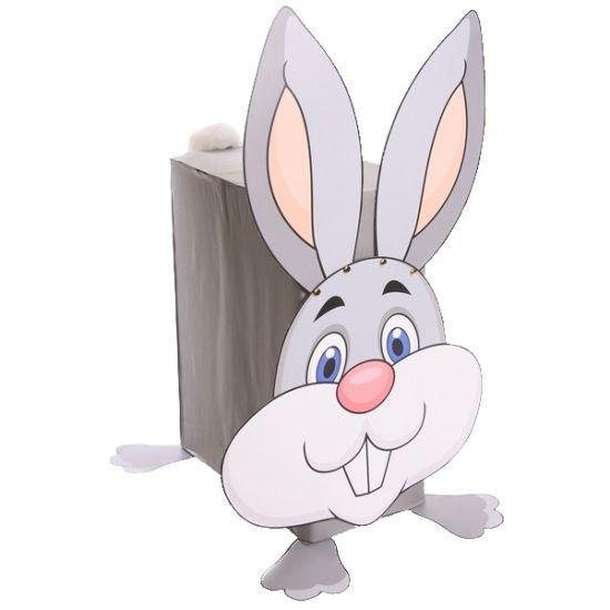 Konijn surprise maken pakket. Compleet basis bouwpakket om een surprise van een konijn te maken. Dit pakket bestaat uit de basismaterialen en instructies die u nodig heeft om een konijntje te knutselen van ongeveer ongeveer 54 x 33 x 27 cm, zoals op de 1e afbeelding. Daarna kunt u de surpise naar eigen wens versieren en personaliseren. Extra nodig: - lijm - schaar - lange Liniaal - Plakband of tape Ruimte voor kado: In het doosje is een ruimte van ongeveer 35 x 24 x 12 cm.