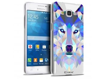 Coque Crystal Galaxy Grand Prime Extra Fine Polygon Animals - Loup