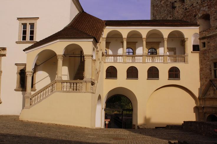 Sárospatak, Lorántffy loggia in the Rákóczi castle, Hungary