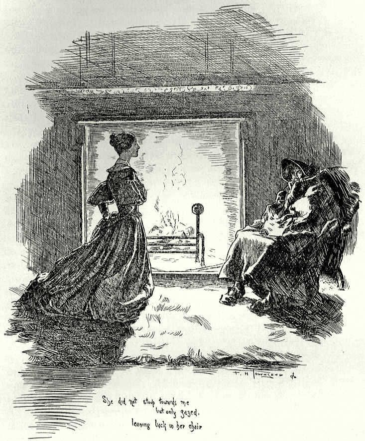 """""""She (the gipsy) did not stoop towards me, but only gazed, leaning back in her chair"""" Jane Eyre Charlotte Bronte"""