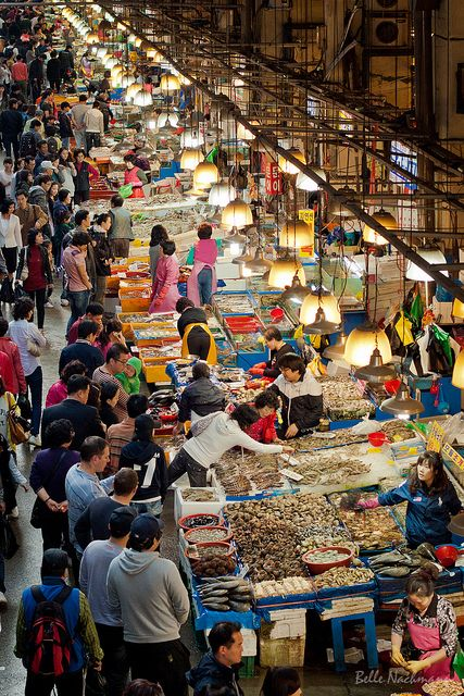 Market Day at Noryangjin Fish Market in Seoul, South Korea