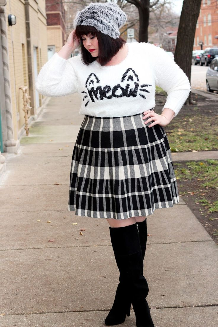 plus size cat sweater from torrid modeled by plus size blogger amber from style …