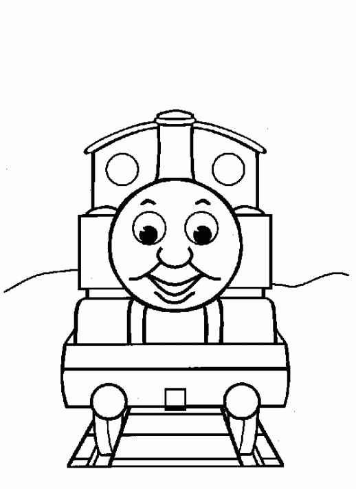 Coloring Pages Trains
