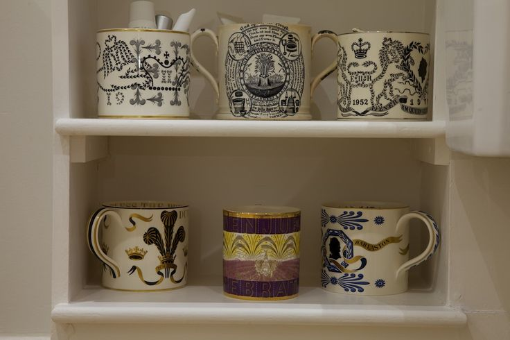 A collection of Richard Guyatt Wedgwood  mugs