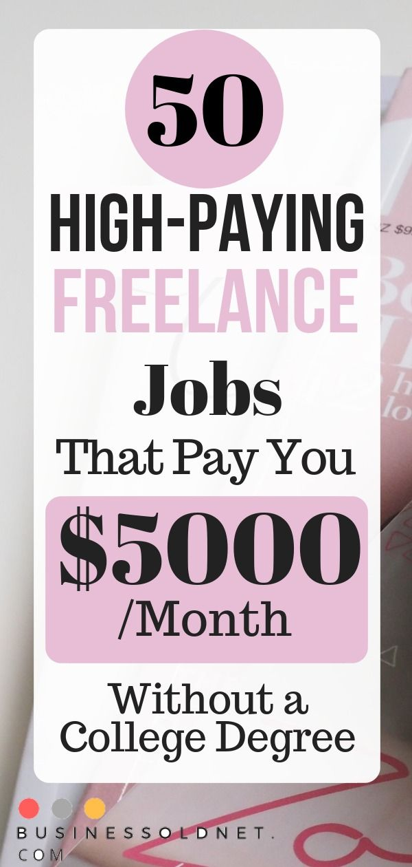 50 High-Paying Freelance Jobs That Pay You $5000 /Month Without a College Degree
