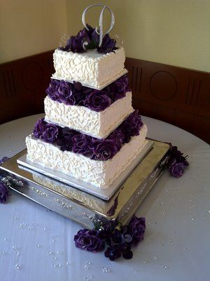 25 cute purple wedding cakes ideas on pinterest purple wedding need pictures of buttercream cakes wedding buttercream cake bev cake instead of purple i would do blue junglespirit Gallery