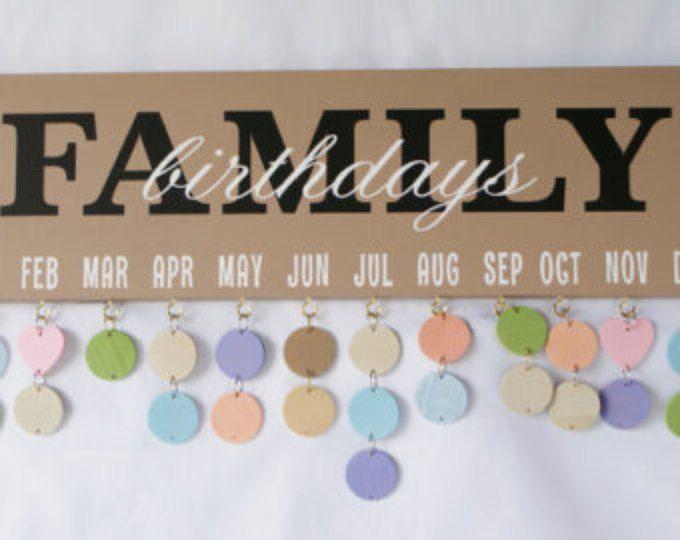 Best 25 Family Birthday Calendar Ideas On Pinterest