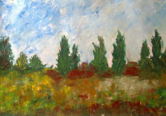 Oil painting  original painting landscape wallart