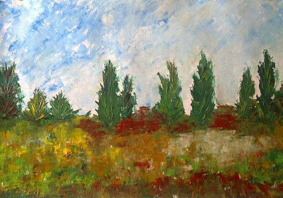 Oil painting  original painting landscape wallart