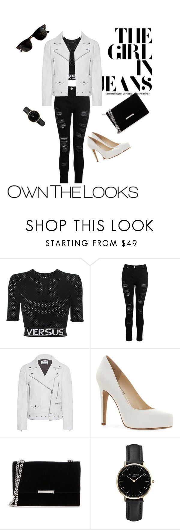 """""""Untitled #1"""" by patstemon ❤ liked on Polyvore featuring Versus, Ray-Ban, Dorothy Perkins, Acne Studios, Jessica Simpson, Ivanka Trump and ROSEFIELD"""