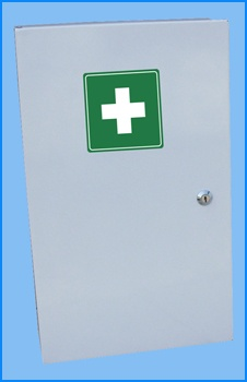 http://www.paragonproducts.ie/index.php/others/first-aid-products - Close up image of the Large First Aid Cabinet offered by Paragon Products. Other products in our First Aid Products range include medicine cabinets, eyewash holders and bottle holders.