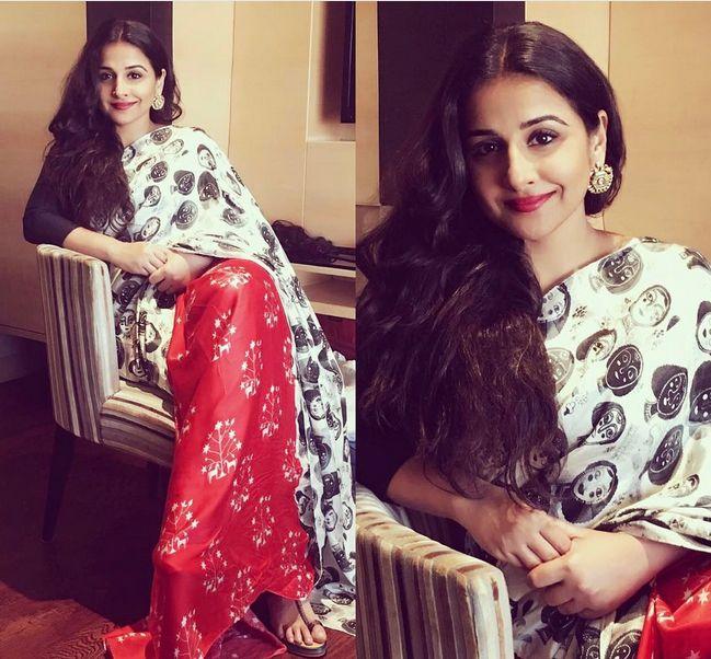 Vidya Balan In A Beautiful Sari