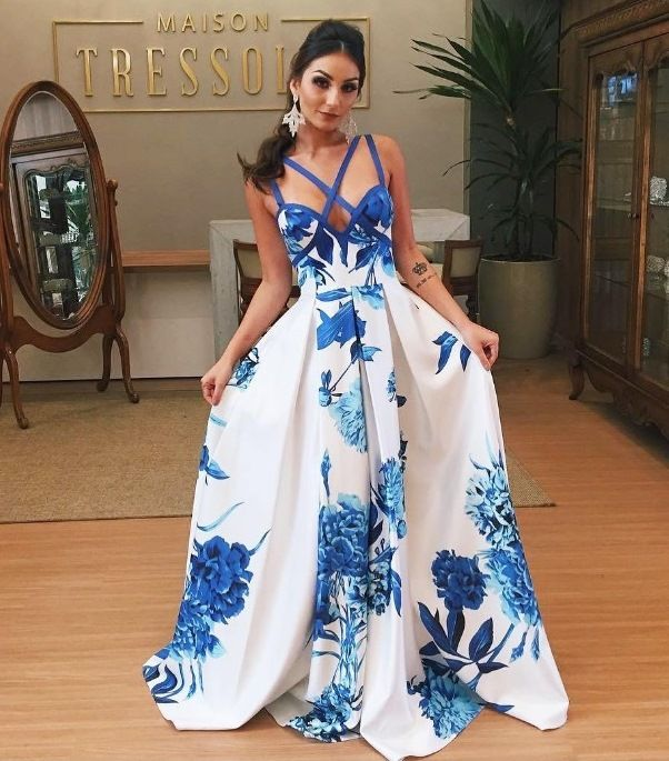 vestido de festa estampado | Vestido de festa longo / Dress | Pinterest