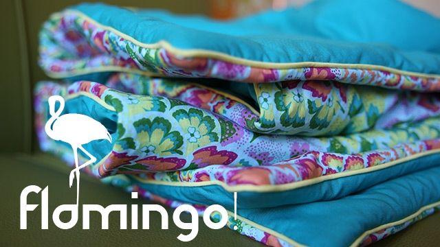 2 leuke stofjes en oude fleece in het midden - lekker warm nieuw dekentje !