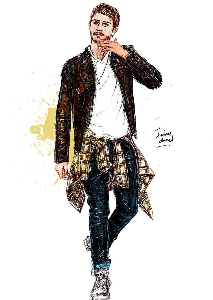 Male fashion figure with dresses