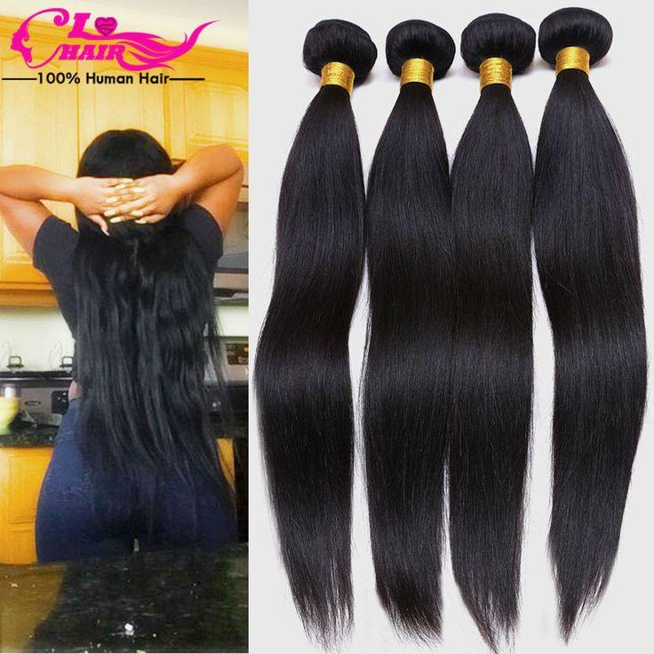 Malaysian Virgin Hair Straight 6a Unprocessed Virgin Human Hair 4 Bundles Cheap Human Hair Straight Virgin extension  #instagood #instacool #best #mystyle #HespiridesGifts