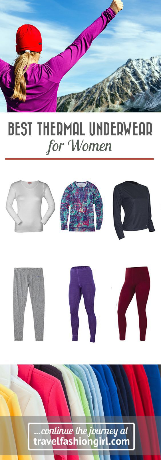 What do smart travelers have in common? They all try their best to pack light, and their secret to cold weather travel is thermal underwear! Read on to discover our top ten brands for thermal underwear for women. http://travelfashiongirl.com/best-thermal-underwear-for-women/ via @travlfashngirl #packing #list #travel
