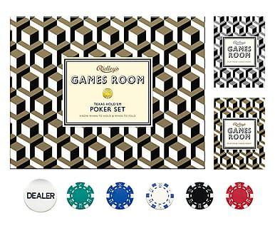 Poker-Spiel Allan Metallic, B 25 cm
