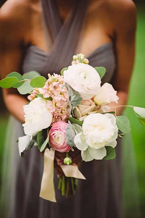 Bridesmaids Bouquets with Peonies and Greenery | Brides.com
