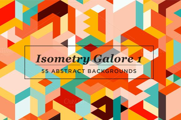 Isometry Galore 1 by kloroform on Creative Market
