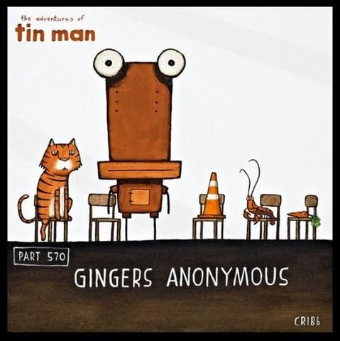"""""""Gingers Anonymous"""" (Boxed Frame) by Tony Cribb"""