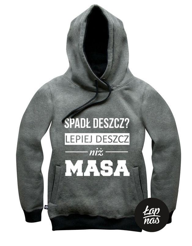 """Bluza Grafitowa ,,MASA"""" ( Męska) - LAP-NAS - Bluzy z kapturem męskie"""
