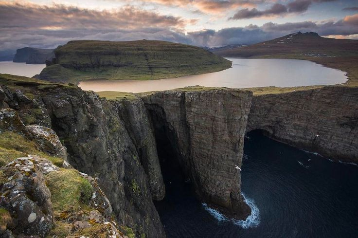 Definitely one to add to our bucket list  . . . . .  not our photo - unknown source  #nomad #nomads #nomadfamily #digitalnomadlifestyle #digitalnomadfamily #digitalnomad #digitalnomads #digitalnomadforum #faroeislands #travel #bucketlist #adventure #wanderlust #travelblog #travelblogger #photooftheday #scandinavia #lake #sea #cliffs #nature
