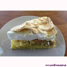 Rhabarberkuchen mit Baiserhaube #Rezept