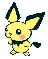 #Pichu from the official artwork set for #Pokemon Channel on #Gamecube. http://www.pokemondungeon.com/pokemon-channel
