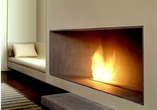 :: FIREPLACES :: lovely fireplace detail designed by TSAO & McKOWN - now if only I can convince a local contractor to do an open fireplace no glass ... love!! #fireplaces