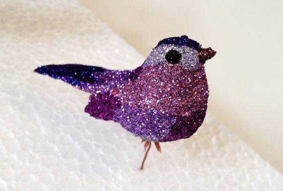 Glittered Purple Bird by TheGlitteredSquirrel on Etsy, $17.00