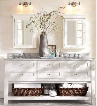 Marvelous Farmhouse Bathroom Design Ideas, Pictures, Remodel, And Decor   Page 4 ·  Double SinksPottery Barn ...