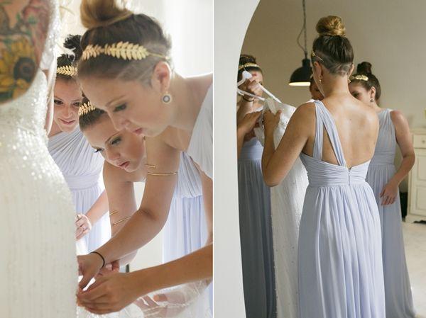 Bridesmaids Dresses | Grecian Style Dresses | Grecian Inspiration | Grecian Headpieces for Weddings | StellaAndMoscha