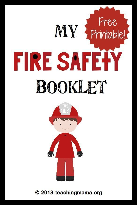 My Fire Safety Booklet -- Free Printable