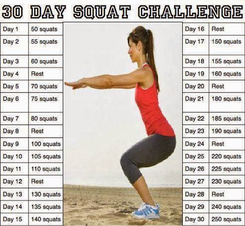 30 Day #Squat Challenge #fitness