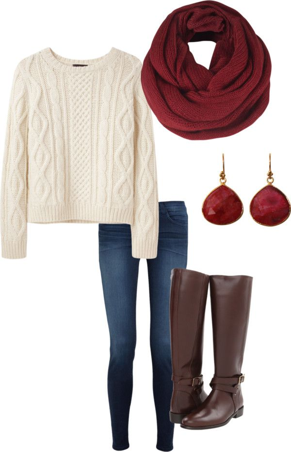 """loving the cranberry/plum colors for fall. """"Fall outfit"""" by reyacp on Polyvore:"""