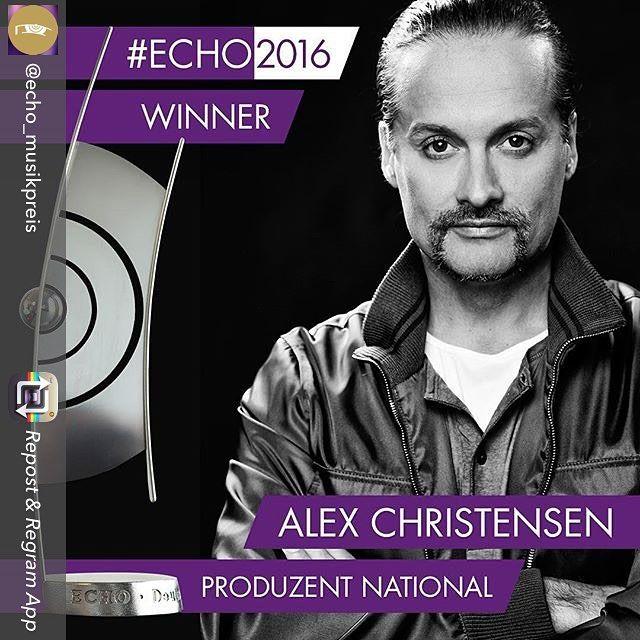 Repost from @echo_musikpreis using @RepostRegramApp - Der Produzenten-#ECHO2016 geht an Alex Christensen Kindern der 90er vor allem bekannt als Mitglied des Musikprojekts U96. Gratulation! #charts #musik #pop #gala #promis #music #instamusic#favoritesong #bestsong #photooftheday #echo #rock