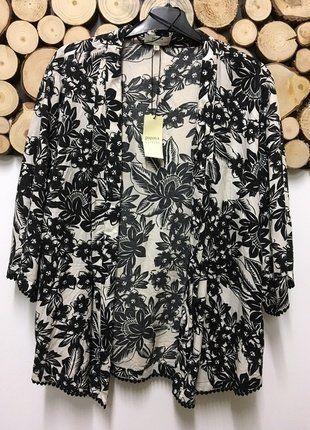 Kup mój przedmiot na #vintedpl http://www.vinted.pl/damska-odziez/marynarki-zakiety-blezery/17738543-narzutka-w-czarno-biale-kwiaty-nowa