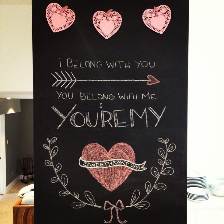 Valentine's chalkboard art | scotch&honey home design