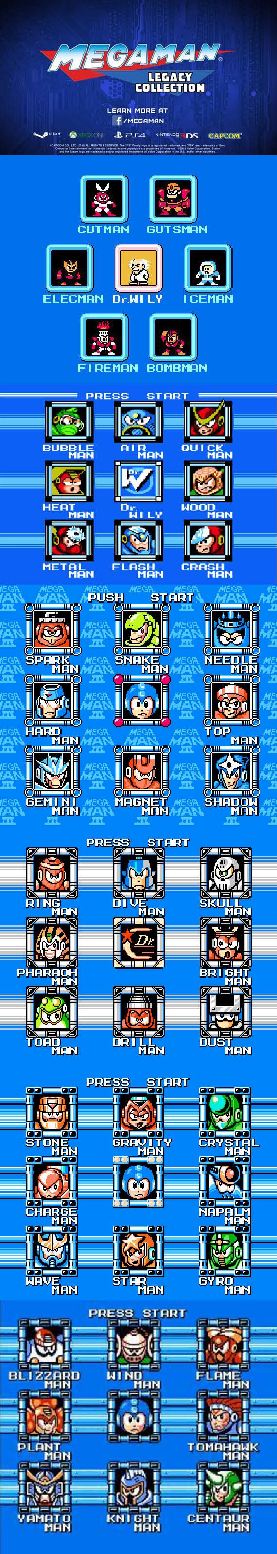 #MegaMan Legacy The first six Mega Man games are about to be released in HD #8bit Glory! #RetroGamer http://www.levelgamingground.com/mega-man-legacy-collection.html