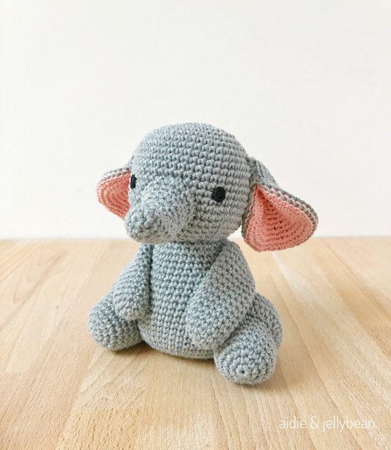 ELEPHANT crochet amigurumi elephant baby gift newborn gift
