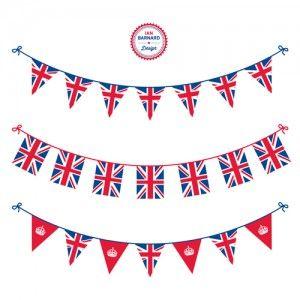 FREE Union flag Jack bunting  Queen Elizabeth II Jubilee-Bunting