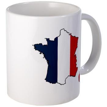 Flag Map of France Mug