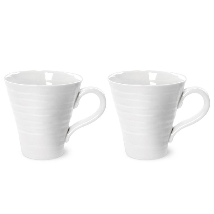 Sophie Conran White Solo Mugs (Set of 2) is the perfect size for coffee machines. 0.2L (7.5oz). Product Code: CPW76894. Call 905·885·9250.