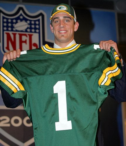 Aaron Rodgers draft day.