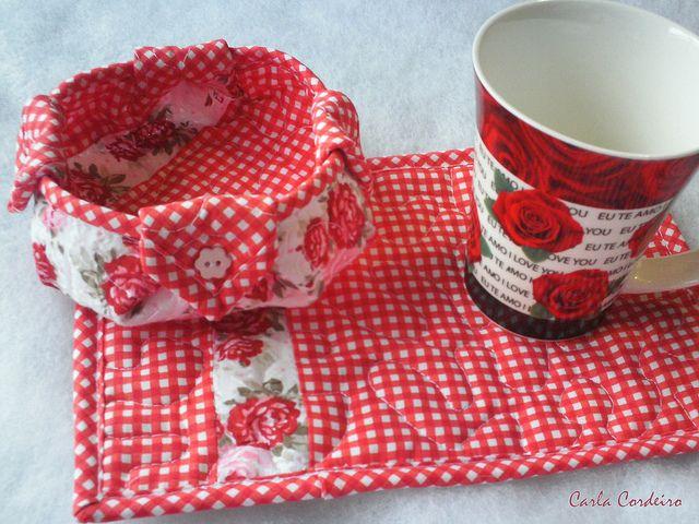 mug rug and basket