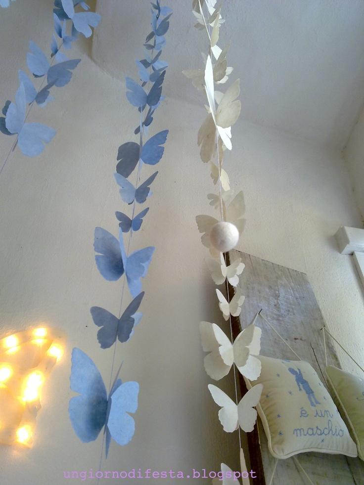 farfalle di carta verdivoglie